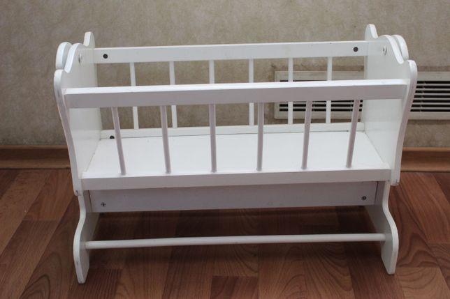 Кровать - качалка Кроватка для кукол кукольная детская игрушка для Ваш