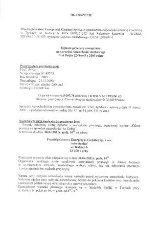 Fiat Doblo rocznik: 2009