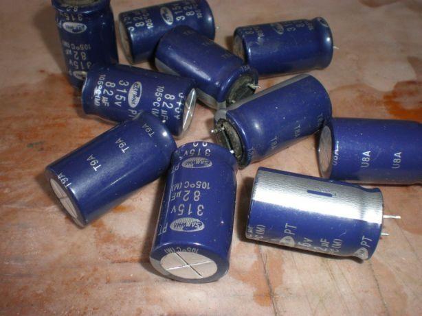 Конденсатор 10шт электролитический 82мf*315V (105 гр.)