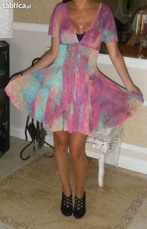 Nowa tęczowa sukienka na lato TKMAXX John Zack 36,S
