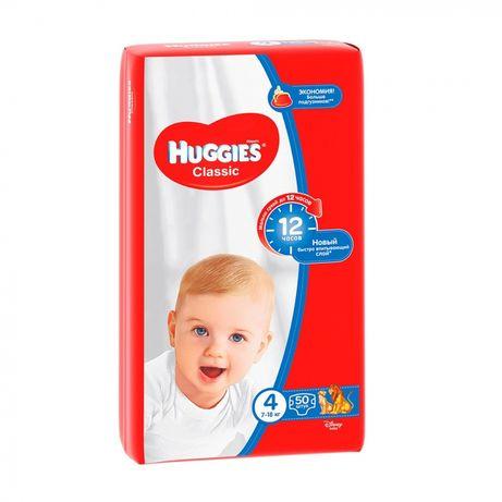Подгузники Huggies Classic размер 4, 7-18 кг, 43 шт