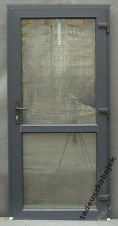 Drzwi sklepowe PCV. 100x210 ANTRACYT Kalisz