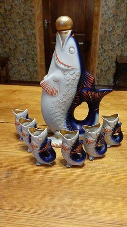 Сервиз. Набор. Рыбки. Фляга и рюмки