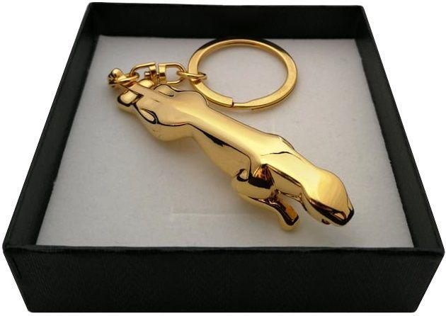 Złoty brelok brylok JAGUAR 24 karaty certyfikat autentyczności PREZENT