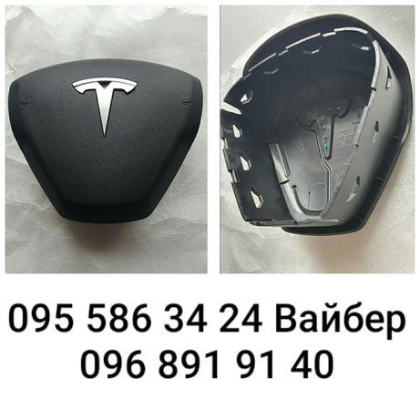 Крышка заглушка руля подушка безопасности airbag Тесла Tesla Model 3 Y