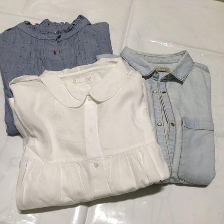 Lote 3 camisas menina
