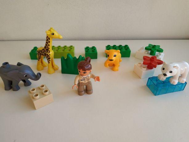 Лего Дупло Зоопарк львёнок жираф медвежёнок слоник 4962 + подарок