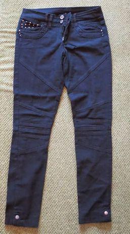 Брюки штаны для девочки черные р.38-40 ( 10-12 лет)