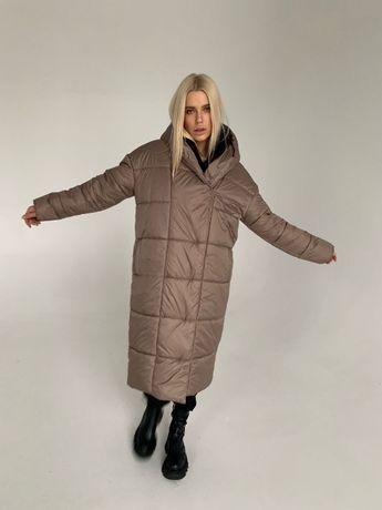 Пуховик пальто женский зимний длинный Куртка пуховик зимняя 42-46