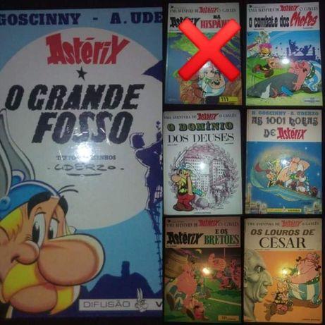 O lote de 15 livros do Astérix