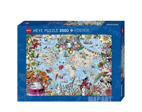 Puzzle Heye 2000 Peças 29913 Map Art Quirkl World - NOVO