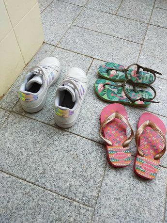 Sapatilhas adidas n°31 e havaianas n°29/30 calçado original