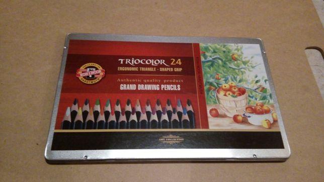 Kredki zestaw 24 szt, Triocolor