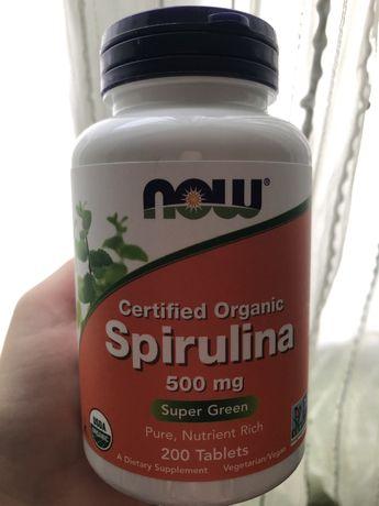 Now Foods сертифицированная органическая спирулина 500 мг 200 табл