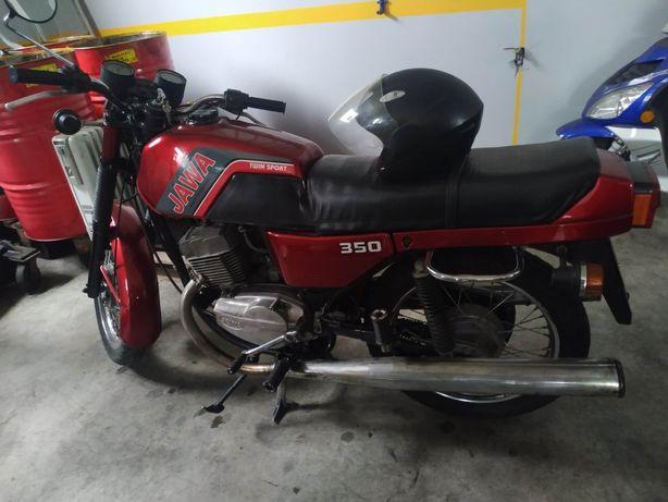 Moto Jawa 350 de 1990 como nova