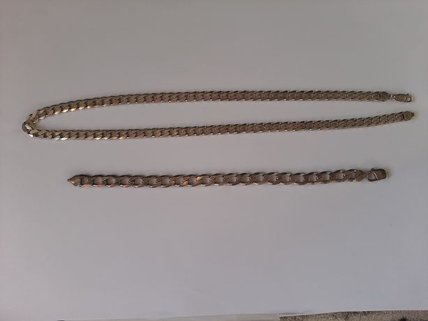 Męska bransoleta i łańcuch