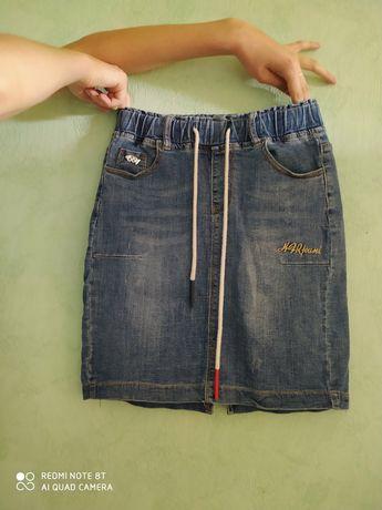 Юбка джинсовая на девочку подростка