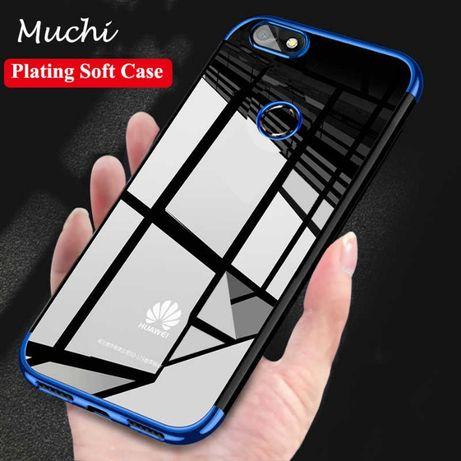 Capa de silicone transparente com azul telemóvel p smart
