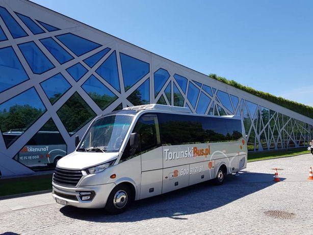 Wynajem komfortowe autokary nowe busy Toruń przewozy TORUNSKIBUS.PL