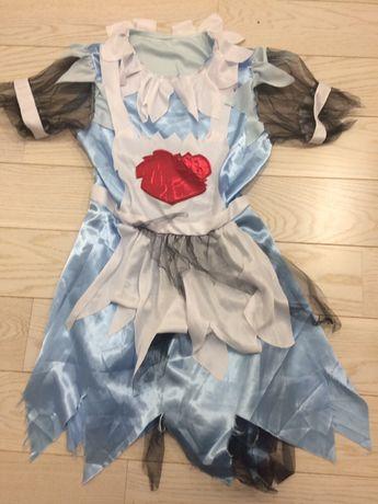 Sukienka przebranie Alicja w krainie czarów królowa kier