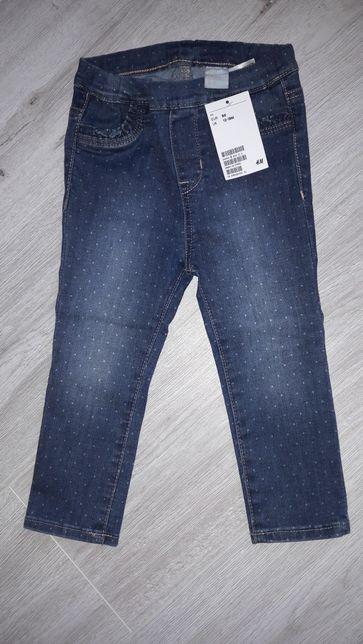 Spodnie dziewczęce H&M 86 NOWE
