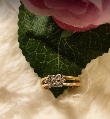 Obracany pierścionek ze złota próba 585