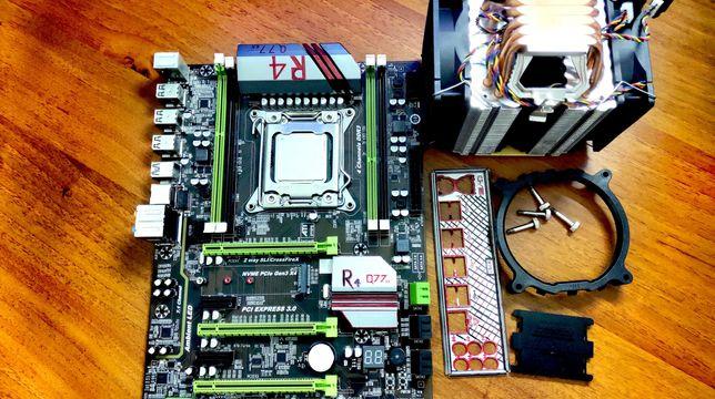 Huanan X79 Turbo OC 2011 NVME GEN3x4 + I7 3820 4.2GHz Cоsta Rika + СO