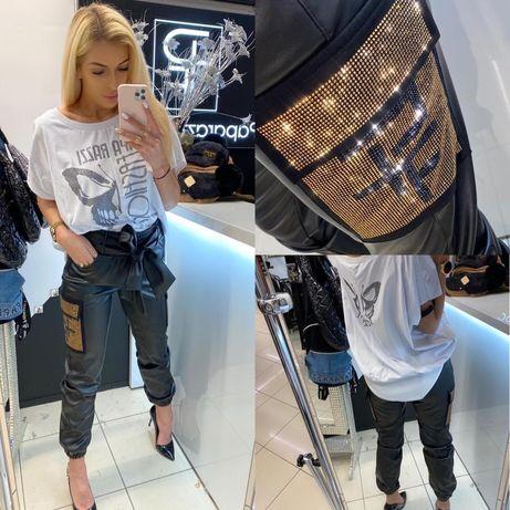 Spodnie od paparazzi fashion wykonczenia z cyrkonii