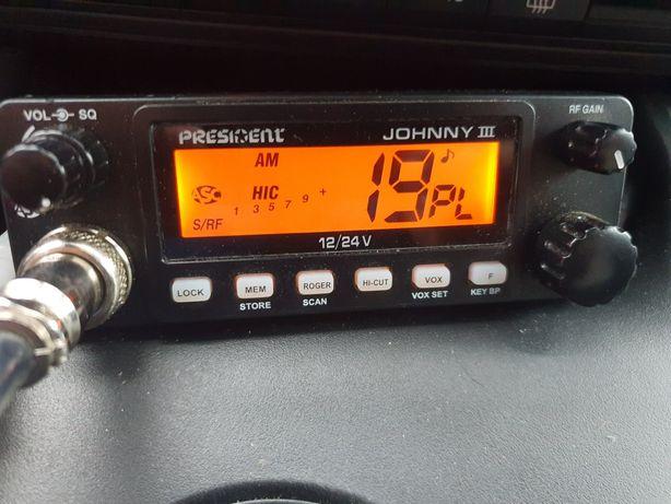 CB Radio President Johny III 100% sprawne.