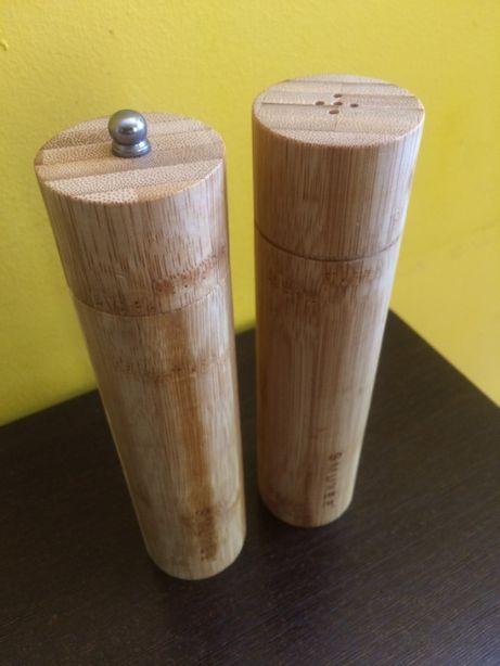 Bambusowy zestaw kuchenny, solniczka i pieprzniczka