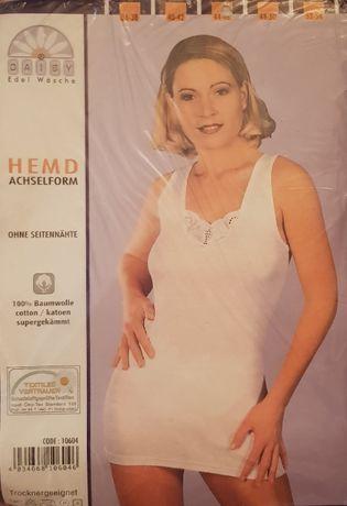 Koszulki podkoszulki białe koronka dwa wzory 100% bawełna Nowe r44/46