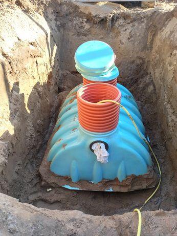 Szambo, zbiornik betonowy, retencja wody, drenaż, odwodnienia