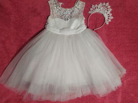 Костюм снежинки, платье нарядное