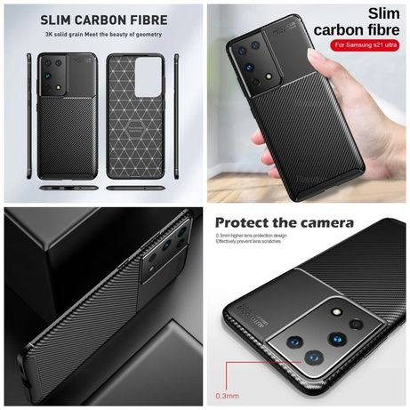 Capa T/ Fibra Carbono Samsung A20S / S20 Fe / S10 Plus/ A12/A10E/ A02S