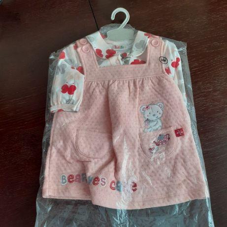 komplet sukienka i bluzeczka 3 m nowy