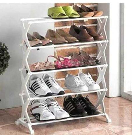 Полка ля обуви подставка Shoe rack для обуви 5 полок на 15 пар