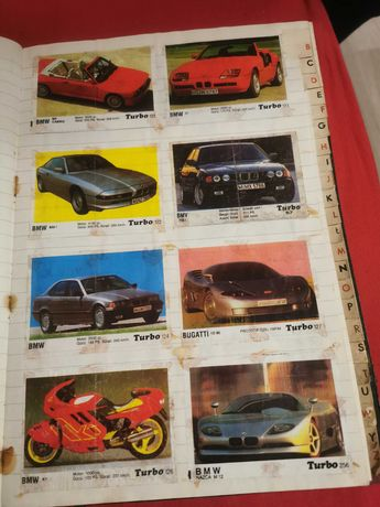 Gumy turbo, 190 szt, kolekcje, lata 90-te, guma turbo
