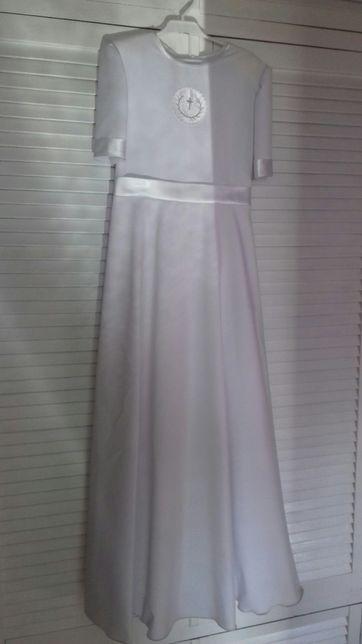 Sukienka alba komunijna biała stan idealny