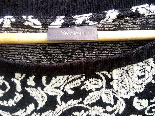 sweter C&A Yessica 36 S 38 sweterek koronka bluza
