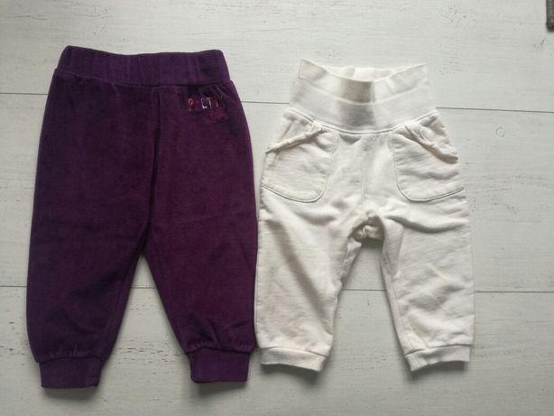 2 pary spodni dresowych C&A i lupillu r. 74