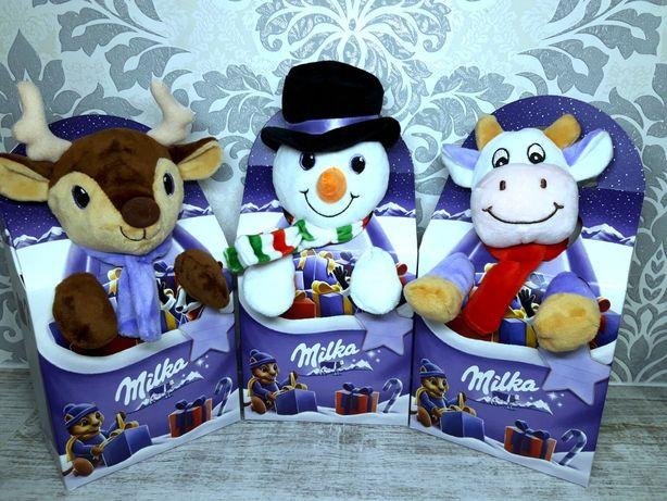 Новогодний набор Milka с мягкой игрушкой