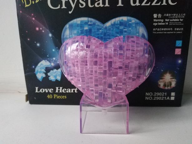 Сердце 3D конструктор пазл кристалл б.у
