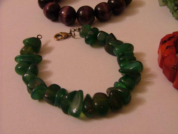 bransoletka zielona kamienie