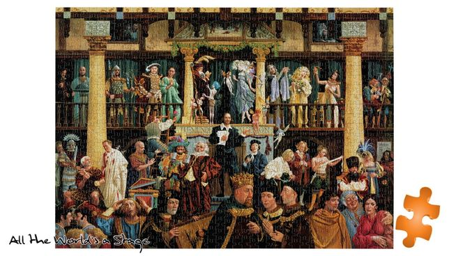 puzzle jumbo 1000 All the World's a Stage William Shakespeare Szekspir