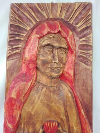 Obraz płaskorzeźba Matka Boska