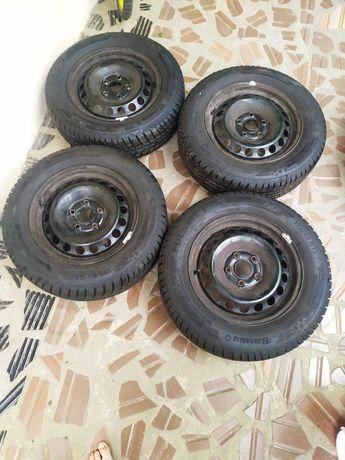 Зимняя резина на дисках 195/65 R15 T Polaris 5 Barum 1cm Как новые 4шт
