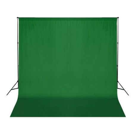 vidaXL Fundo fotográfico em algodão verde 300x300 cm chroma key 190002