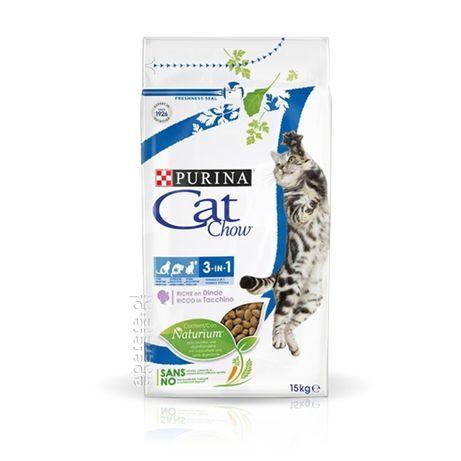 Karma dla kota Purina Cat Chow Adult Special Care 3w1 indyk 15kg Okazj