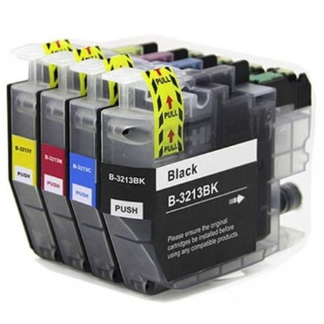 Conjunto 4 tinteiros compativeis Brother - LC3213 -BK/C/M/Y
