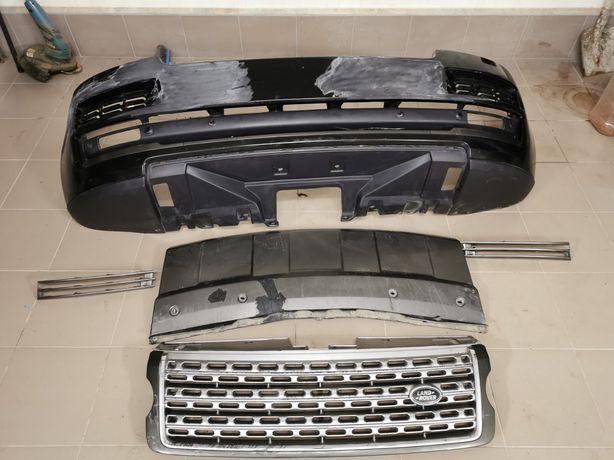 Бампер, решітка радіатора, фара і телевізор Range Rover Vogue 2013